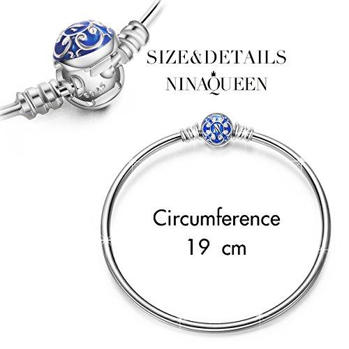 NinaQueen Blau Damen-Armband Sterling-Silber 925 19cm - 2