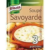 Knorr Soupe Savoyarde Fromages Fondus et Lard 80 g pour 4 Personnes