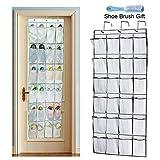 Sunblue Halter, 24Pocket Door Hanging Schuh Organizer Stauraum Rack Box mit 3stabile Haken zum Aufhängen White Color