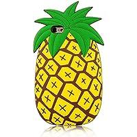 SevenPanda 3D Ananas Case Kompatibel mit iPhone XS Max Thick Soft Silikon Gel Gummi Shockproof Protective Nette Reizende frische Sommer Mädchen Kids Teens Women Jungen - Gelb