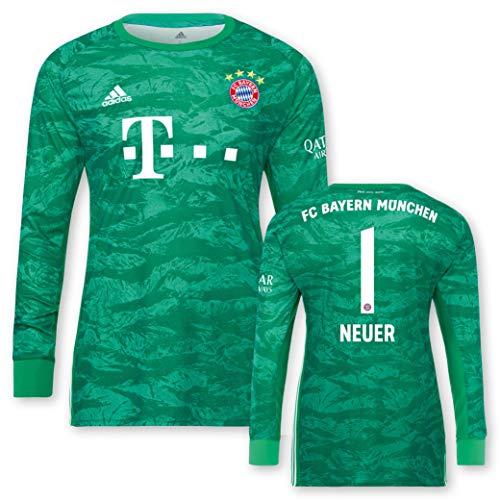 adidas FC Bayern München Torwarttrikot Neuer 2019/20, Größe:140, Spielername:1 Neuer
