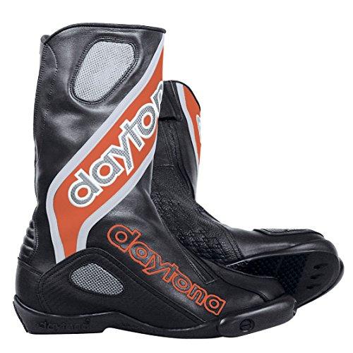 Daytona Evo Sport GTX, Scarpe da corsa motociclo stivali in pelle-Nero Rosso