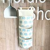 Fieans Multifunktionale Hanging Storage Bag/Hängende Kombination/Wand Hängen Hängeorganizer/Hängende Tasch-Blau Elefant