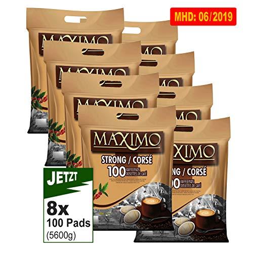 MAXIMO Strong Kaffeepads 8x 100 Pads (5600g) - Kräftig, Intensiv