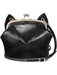 Hengta Women's Crossbody Purse Bag Cute Cat Face Shoulder Bag