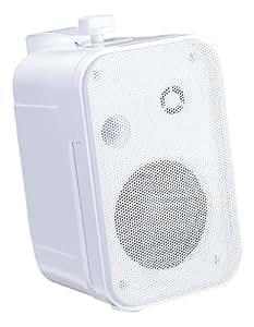 """e-audio - Mini Enceintes e-audio Blanches 3.5"""" 2 Voies (8 Ohms 100W)"""