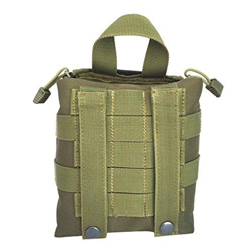 MagiDeal Molle Erste Hilfe Tasche Taktische Medizinische Notfalltasche für Outdoor Sport Reisen Notfall Pack mit Handgriff, Outdoor Handtasche Armeegrün