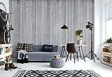 Wallsticker Warehouse Holzbretter Grau Vlies Fototapete Fotomural - Wandbild - Tapete - 368cm x 254cm / 4 Teilig - Gedrückt auf 130gsm Vlies - 1096V8 - Holzwände