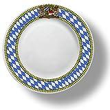 Bayerischer Teller mit Freistaat Bayern Wappen blau-weiß Raute Durchmesser 25cm