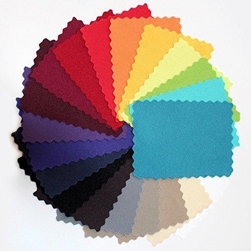 Preisvergleich Produktbild novely® Musterfächer Muster-Sets Möbelstoffe Bezugsstoffe Kunstleder OXFORD Outdoorstoffe (16 novely OXFORD 600D)