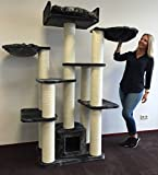 Kratzbaum große katze XXL Maine Coon Fantasy Dunkel Grau. 65KG und 15cmØ Kratzstämme 120x60x183cm Katzenkratzbaum Speziell für große und schwere Katzen. Neu im 2017 mit...