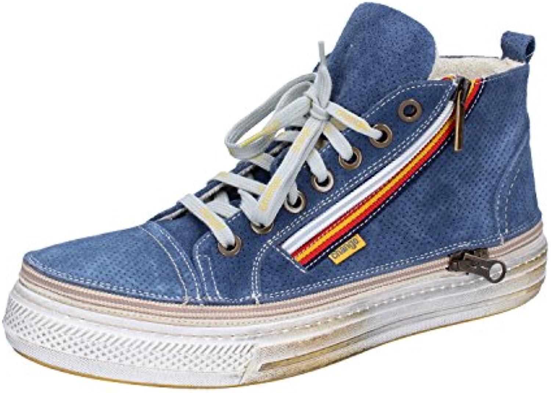 CHANGE Sneakers Herren Blau Weiß Grau Wildleder 40 EU  Blau
