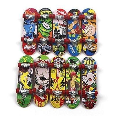 WJH9 30 PCS Zufalls Mini Skateboard Spielzeug, Jungen-Kind-Kind-Geschenk, Deck LKW Griffbrett Skate Park