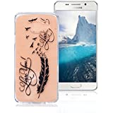 Coque Samsung Galaxy A5 2016 SM-A510F, AllDo Coque TPU Silicone pour Samsung Galaxy A5 2016 SM-A510F Etui Souple Flexible Gel Rubber Case Smooth Soft Cover Housse Ultra Mince Etui Poids Léger Lisse Couverture Anti Rayure Coque Protection Coquille Anti Choc - Plume&Amour