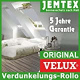 Original Velux Verdunkelungsrollo Rollo für GGL / GPL / GHL / GTL MK08 in Stofffarbe Premium 0705 / Uni Grau mit alu Seitenschienen / DKL MK08 0705S - auch passend für GGU / GPU / GHU / GTU - Größe MK08