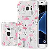 Coque Galaxy S7 Edge , ivencase Housse Etui TPU Silicone Clair Transparente Ultra Mince Anti-Scratch Back Case Cover pour Samsung Galaxy S7 Edge SM-G935