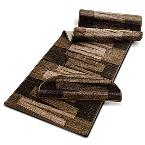 casa pura® Pattern Carpet Floor Runner, Via Veneto - Brown