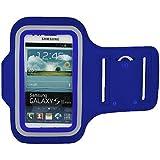 RotSale® 1x Blau Samsung S5 Handy Armband Samsung Galaxy A5 J5 E5 Grand S4 Huawei Honor 6 3C 4C Ascend P7 G620 Xiaomi M3 M4 Armhalter Wasserabweisend Klettverschluss Schutzhülle Etui Case für Sport Laufen Joggen Running Sicherheitsdesign
