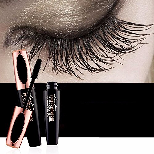 NEEDOON 4D Silk Fiber Wimpern Mascara Creme Make-Up Peitsche Kaltwasserdicht Mascara Eye Schwarz Wimpernverlängerung Verrückte Lange Stil