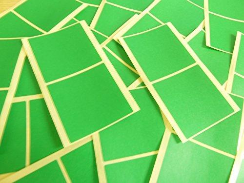 groß 51mm Square Mittelgrün Farbcode Sticker, 50 selbstklebende Squares Klebend Farbige Etiketten