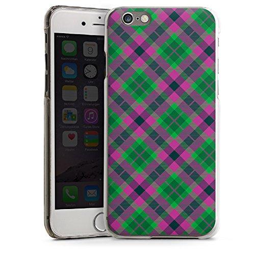 Apple iPhone 5 Housse Étui Silicone Coque Protection Carreau Écossais Vert CasDur transparent