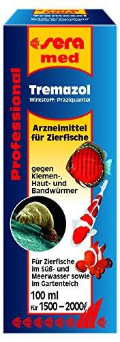 sera 02192 med Professional Tremazol 100 ml - Arzneimittel für Zierfische gegen Kiemen, Haut und Bandwürmer