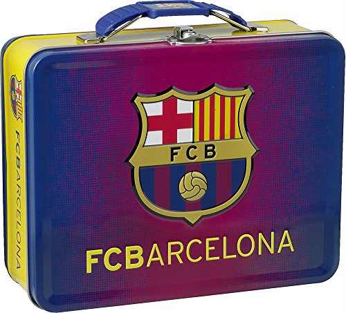 Officially Licensed Embossed FC Barcelona Tin Lunch Box by Barcelona F.C.