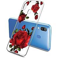 Oihxse Funda Samsung Galaxy C8/J7 Plus, Ultra Delgado Transparente TPU Silicona Case Suave Claro Elegante Creativa Patrón Bumper Carcasa Anti-Arañazos Anti-Choque Protección Caso Cover (A7)