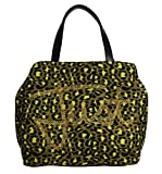 Cavalli - Yellow Black Leopard Hand Shopping Tote Bag