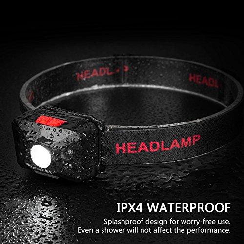 Stirnlampe LED, USB Wiederaufladbare Kopflampe Wasserdicht Leichtgewichts stirnlampen Perfekt fürs Joggen, Laufen Campen Angelnund Radfahren, für Kinder und mehr - 5