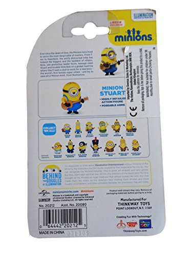 Despicable Me Minions Movie Minion Stuart 2 with Guitar (20212) by Thinkway 3