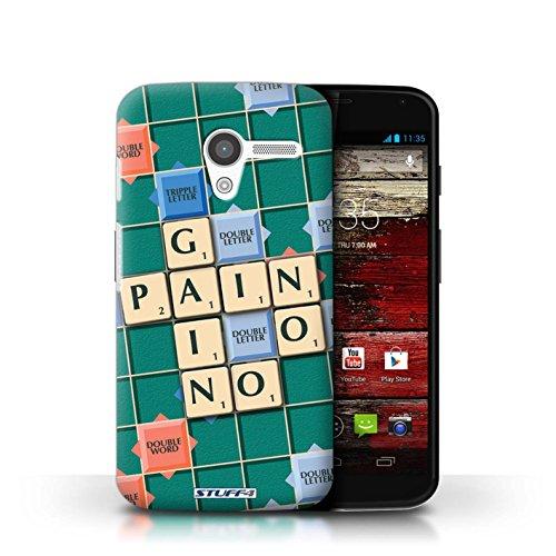 Kobalt® Imprimé Etui / Coque pour Motorola MOTO X / Douce Vengeance conception / Série Mots de Scrabble Aucun Douleur Gain