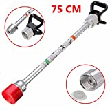 EsportsMJJ 75cm Airless Paint Sprayer Gun Tip Extension Rod With Black Tip Guard For Graco Wagner Titan