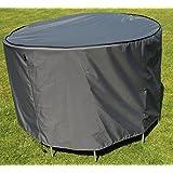Funda / Cover / Protectora para Mesa Redonda | Ø 153 x 90 cm (L/A x A) | Gris | Impermeable | SORARA | Poliéster (UV 50+) | Para exterior Muebles de Jardín, Terraza, Patio