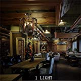 Deckenleuchte, Hauptwohnzimmer Schlafzimmer Deckenleuchte, American Vintage Iron Nostalgic Ideas Industrial Long Loft Restaurant Cafe Bar Decke, moderne Hotel Restaurantbeleuchtung, Flurbeleuchtung