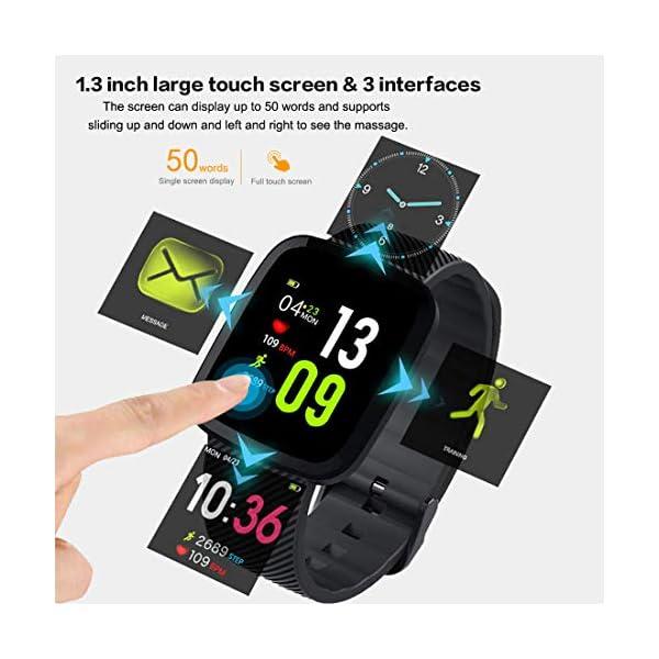 EUMI Smartwatch, Reloj Inteligente con IP67, Pulsera Actividad Inteligente Batería 10-15 días 1.3'' a Color 8… 2