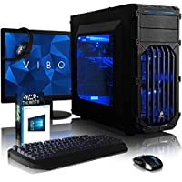 "VIBOX Electron 36 Gaming PC Computer with War Thunder Game Voucher, Windows 10 OS, 22"" HD Monitor (4.2GHz AMD FX 8-Core Processor, Nvidia GeForce GTX 1050 Graphics Card, 32GB RAM, 240GB SSD, 3TB HDD)"