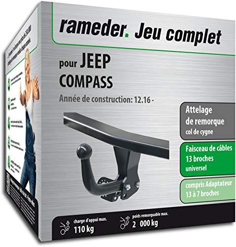 Rameder Attelage démontable avec Outil pour Jeep Compass + Faisceau 13 Broches (160955-37718-1-FR)