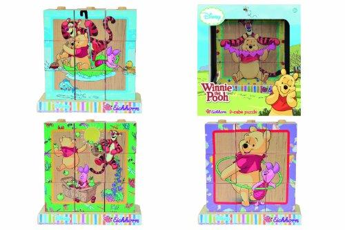 Eichhorn - 100003329 - Dés avec images puzzle - Winnie the Pooh en Bois