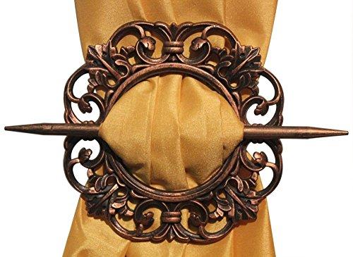 Hölzerne Vorhang Raffhalter, Vorhanghalter, Carving Runde Form HoldBacks, Ostern Tag / Muttertag / Karfreitag Geschenk (Hinter Der Brosche)