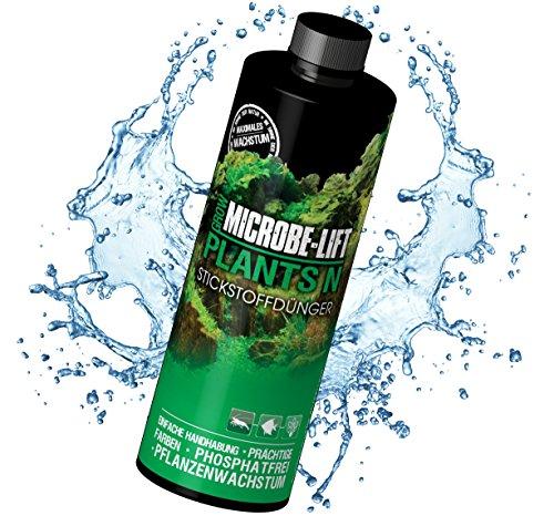 MICROBE-LIFT Plants N - Pflanzendünger - (Qualitäts-Stickstoffdünger für alle Arten von Wasserpflanzen in jedem Süßwasser Aquarium, sorgt für einen prachtvollen Pflanzenwuchs und beugt einem Stickstoffmangel Ihrer Wasserpflanzen nachhaltig vor, Wasseraufbereiter, ausreichend für 11.500 Liter) 118 ml