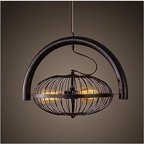 XY&GKPoignée industrielle légère ombre Retro Restaurant Bar Cafe vent une personnalité industrielle Lustre Fer Lampe Ventilateur de plafond Loft A#A ILLUMINER VOTRE