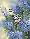 Dimensions Needlecrafts Paintworks Paint By Number, Chickadees & Lilacs