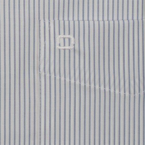 OLYMP Luxor modern fit Kent blau weiß Feinstreifen 0336/64/15 SH Streifen hellblau