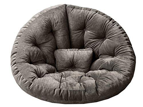 Ambientehome 90720 Magic Seat Ocotpus Sitzmuschel, L, 175 cm, grau