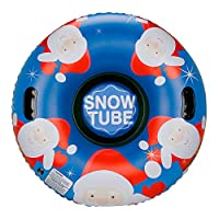 Leader Accessories 47Inch Inflatable Snow Tube Heavy Duty Freeze-Resistant,Large Snow Tubes with Handles,Thickening Material of 0.6mm,Inflatable Snow Tube Sled for Kids and Adults