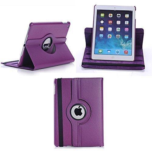 Apple iPad mini 4 viola cuoio Rotazione 360 CUSTODIA COVER da GADGET BOXX