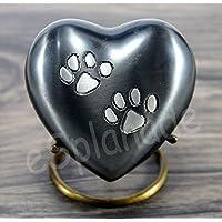 eSplanade - Recipiente de latón con forma de corazón para cremación de mascotas, urna conmemorativa, urnas de metal, urnos de bruto, urnos conmemorativos, recuerdos para mascotas, perros, gatos