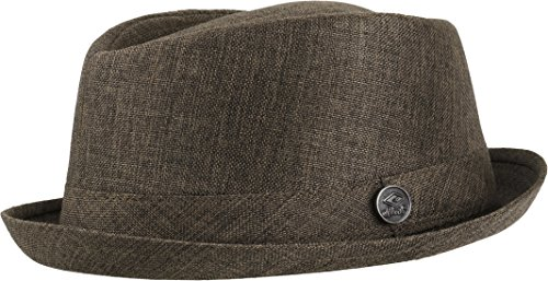 Chillouts Balboa Hat Gr. L-XL [58-61] in der Farbe Braun Pork Pie Hut aus Hanf