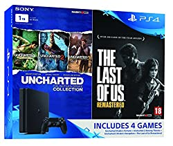 Sony PS4 Slim 1 TB Console (Free Games: TLOU & Uncharted Collection)